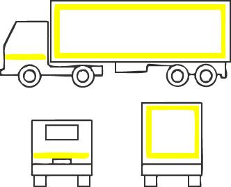Контурная маркировка транспортного средства