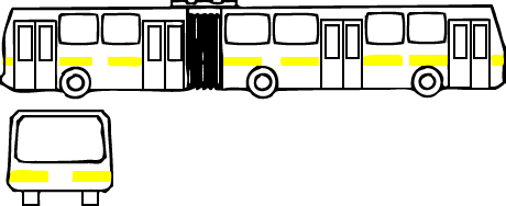 Схемы оклейки светооражающей лентой автобуса