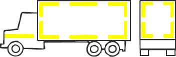 Контурная маркировка автомобиля с кузовом-фургоном