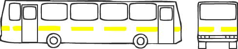 Схемы оклейки светоотражающей пленкой автобуса